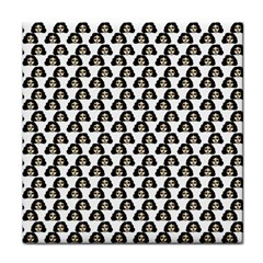 Angry Girl Pattern Tile Coasters