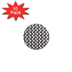 Angry Girl Pattern 1  Mini Magnet (10 Pack)