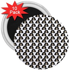 Angry Girl Pattern 3  Magnets (10 Pack)