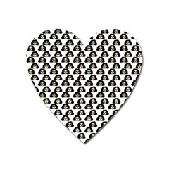 Angry Girl Pattern Heart Magnet