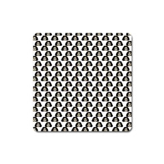 Angry Girl Pattern Square Magnet