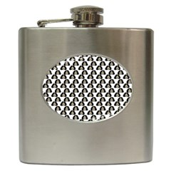 Angry Girl Pattern Hip Flask (6 Oz)