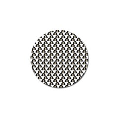Angry Girl Pattern Golf Ball Marker