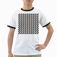 Angry Girl Pattern Ringer T Shirts
