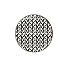 Angry Girl Pattern Hat Clip Ball Marker