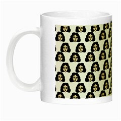 Angry Girl Pattern Night Luminous Mugs