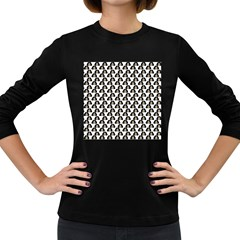Angry Girl Pattern Women s Long Sleeve Dark T Shirts