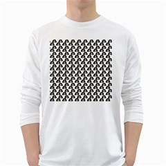 Angry Girl Pattern White Long Sleeve T Shirts