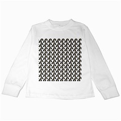 Angry Girl Pattern Kids Long Sleeve T Shirts