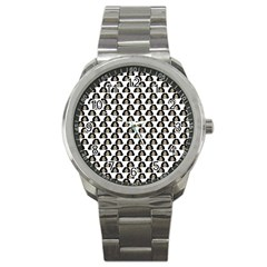 Angry Girl Pattern Sport Metal Watch