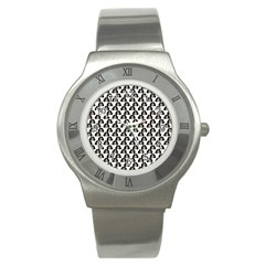 Angry Girl Pattern Stainless Steel Watch