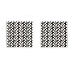 Angry Girl Pattern Cufflinks (square)