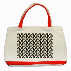 Angry Girl Pattern Classic Tote Bag (red)