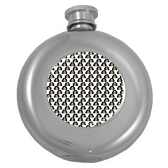 Angry Girl Pattern Round Hip Flask (5 Oz)