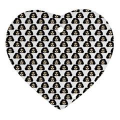 Angry Girl Pattern Heart Ornament (two Sides)