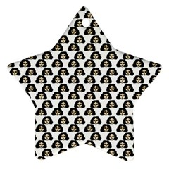 Angry Girl Pattern Star Ornament (two Sides)