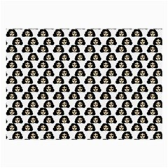 Angry Girl Pattern Large Glasses Cloth