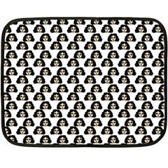 Angry Girl Pattern Fleece Blanket (mini)