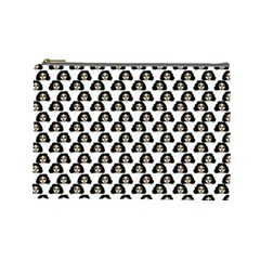 Angry Girl Pattern Cosmetic Bag (large)