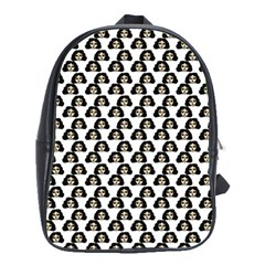 Angry Girl Pattern School Bag (large)