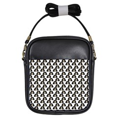 Angry Girl Pattern Girls Sling Bags