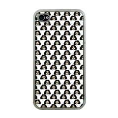 Angry Girl Pattern Apple Iphone 4 Case (clear)