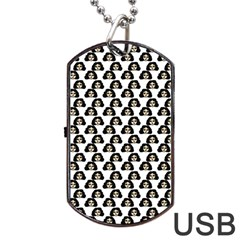 Angry Girl Pattern Dog Tag Usb Flash (two Sides)