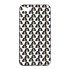 Angry Girl Pattern Apple Iphone 4/4s Seamless Case (black)