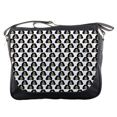 Angry Girl Pattern Messenger Bags