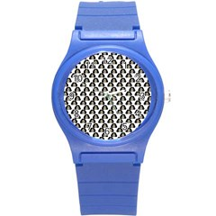 Angry Girl Pattern Round Plastic Sport Watch (s)
