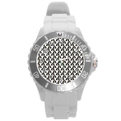 Angry Girl Pattern Round Plastic Sport Watch (l)