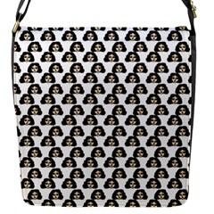 Angry Girl Pattern Flap Messenger Bag (s)