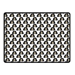Angry Girl Pattern Double Sided Fleece Blanket (small)