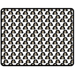 Angry Girl Pattern Double Sided Fleece Blanket (medium)