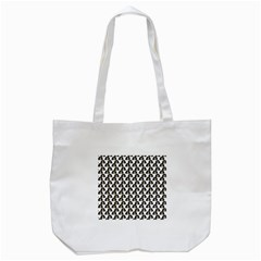 Angry Girl Pattern Tote Bag (white)