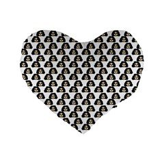 Angry Girl Pattern Standard 16  Premium Flano Heart Shape Cushions