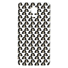 Angry Girl Pattern Galaxy Note 4 Back Case