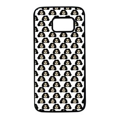 Angry Girl Pattern Samsung Galaxy S7 Black Seamless Case