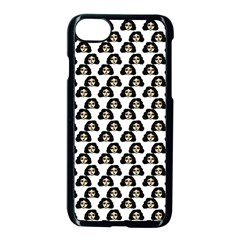 Angry Girl Pattern Apple Iphone 8 Seamless Case (black)