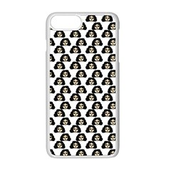 Angry Girl Pattern Apple Iphone 8 Plus Seamless Case (white)