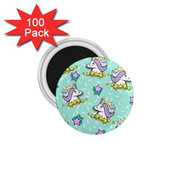 Magical Happy Unicorn And Stars 1 75  Magnets (100 Pack)