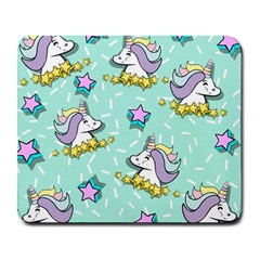 Magical Happy Unicorn And Stars Large Mousepads