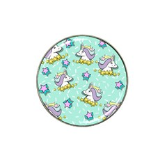 Magical Happy Unicorn And Stars Hat Clip Ball Marker (4 Pack)