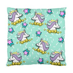 Magical Happy Unicorn And Stars Standard Cushion Case (two Sides)