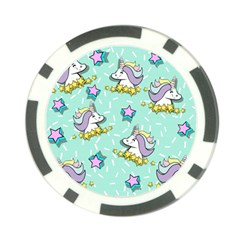 Magical Happy Unicorn And Stars Poker Chip Card Guard (10 Pack)