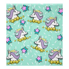 Magical Happy Unicorn And Stars Shower Curtain 66  X 72  (large)