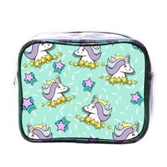 Magical Happy Unicorn And Stars Mini Toiletries Bags