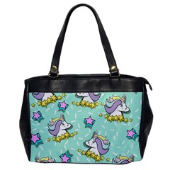 Magical Happy Unicorn And Stars Office Handbags
