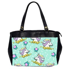 Magical Happy Unicorn And Stars Office Handbags (2 Sides)