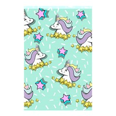 Magical Happy Unicorn And Stars Shower Curtain 48  X 72  (small)